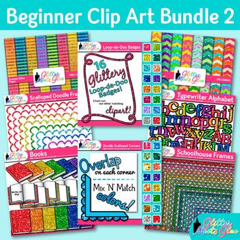 Intermediate Clip Art Bundle {School Books, Scrapbook Pape