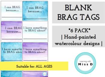 BLANK BRAG TAGS - watercolour