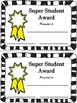FREE BLANK SUPER STUDENT AWARDS