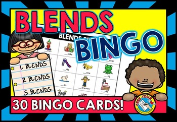 BLENDS ACTIVITIES: BLENDS BINGO: MIX OF R BLENDS, S BLENDS