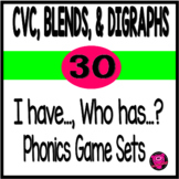 I Have Who Has Game for Blends and Digraphs Beginning and