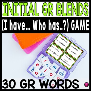 INITIAL BLENDS with GR I HAVE WHO HAS GAMES for Emerging Readers