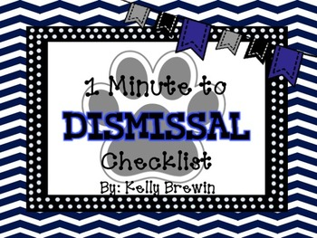 BLUE/BLACK {Paw Print} 1 Minute Dismissal Set