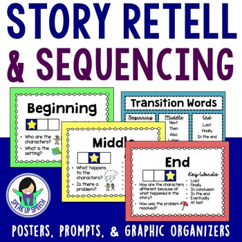 Story Retell - Beginning, Middle, and End Visuals & Graphi