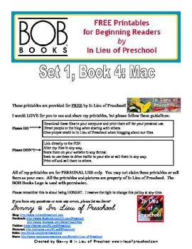 BOB Books Printables for Beginning Readers: Set 1, Book 4 Mac