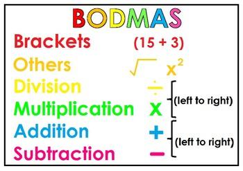 BODMAS poster (Freebie!)