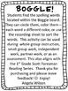 BOGGLE! 1st Grade Scott Foresman Unit 1 Week 3 short o