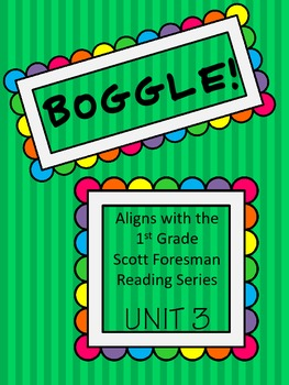 BOGGLE! 1st Grade Scott Foresman Unit 3 Week 1 Long e and