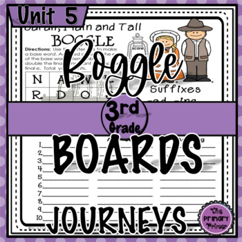 Journeys THIRD Grade BOGGLE:  Unit FIVE