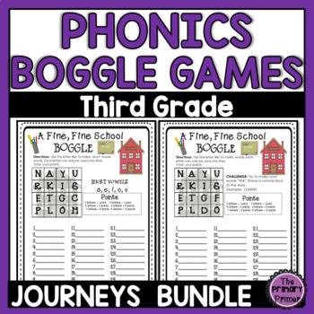 Journeys THIRD Grade BOGGLE: The BUNDLE for Units 1-6
