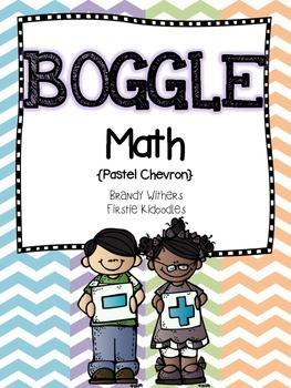 BOGGLE Math {Pastel Chevron Edition}