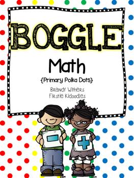 BOGGLE Math {Primary Polka Dots Edition}