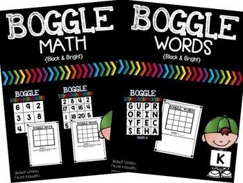BOGGLE Math & Words Bundle {Black & Bright}