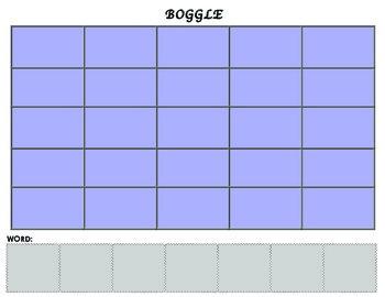BOGGLE Word Work Game