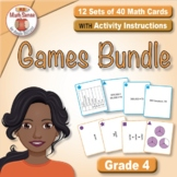 BONUS BUNDLE: Grade 4 Multi-Match Math Games for Common Core