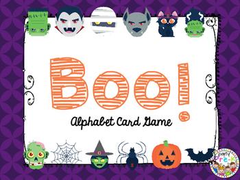BOO! Alphabet Card Game-Halloween Monsters