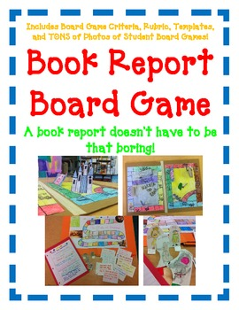 Book report board game fun easy directions by upper for Creative ways to make a book for a project