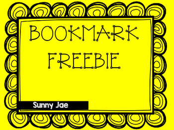 BOOKMARK FREEBIE