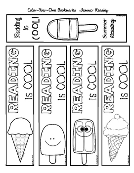 BOOKMARKS Color-Your-Own SUMMER SCHOOL Reading