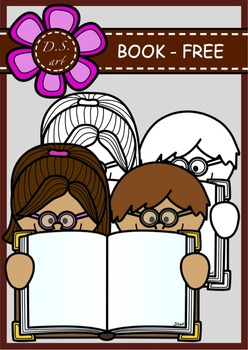 BOOK_FREE Digital Clipart (color and black&white)