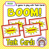 BOOM! A Game to Play with Task Cards: FREE!