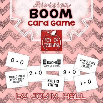 BOOM!  Division Facts Card Game for Math Centers and Math