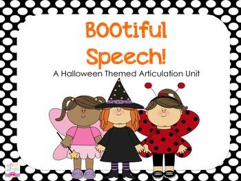 BOOtiful Speech! A Halloween Themed Articulation Unit