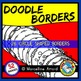 DOODLE BORDERS CLIP ART SET: OVAL BORDERS + CIRCLE BORDERS