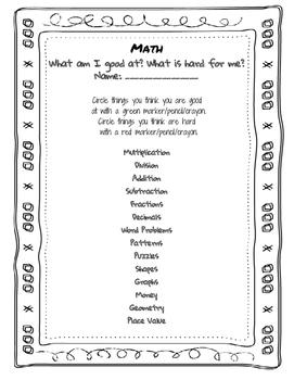 BOY Math Survey