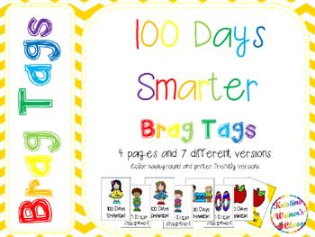 BRAG TAGS: 100 Days Smarter {Freebie}