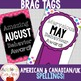 BRAG TAGS - Monthly Reward Tags