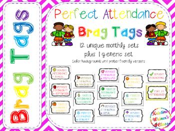 BRAG TAGS: Perfect Attendance {Behavior Incentive}