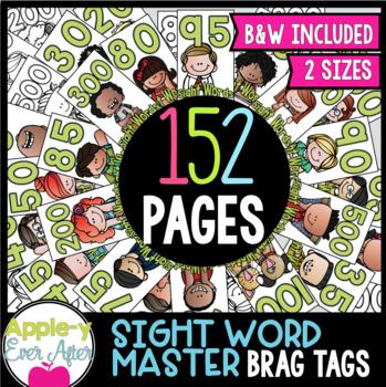 BRAG TAGS Super Set - Sight Words Mastery Set