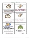 48 REPRODUCABLE QUICK BRAG NOTES! (8pp.) KIDS & PARENTS LO