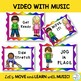 """Brain Break:""""MOVE YOUR BODY"""" Video with Music for Music, P"""