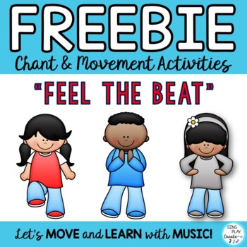 """Freebie: Movement Activity """"FEEL THE BEAT"""" & """"TAKE A SEAT"""""""