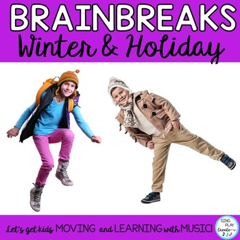 BRAIN BREAKS FOR WINTER & HOLIDAYS *PRINT & GO *TEAM & IND