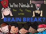 BRAIN BREAKS~28 Quick~Engaging~Movement~Dancing~QR Codes o