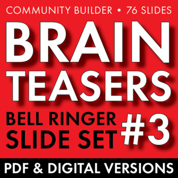 BRAIN TEASERS VOL. 3 – Logic, Word Sense, Puzzles, Lateral