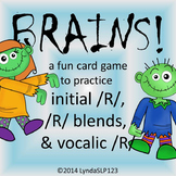 BRAINS!! Articulation Games for initial /R/, vocalic /R/,