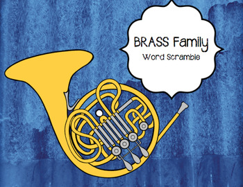 BRASS Instruments Word Puzzle