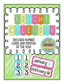 BRIGHT Calendar Cards