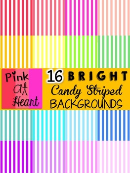 BRIGHT, Candy Striped Backgrounds