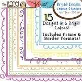 BRIGHT Doodle Frames & Borders Set {180 Files!}: Graphics