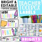 Teacher Toolbox Labels {BRIGHT & Editable}