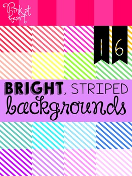 BRIGHT, Striped Backgrounds