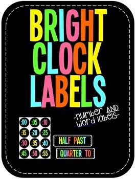 BRIGHT Clock Labels!