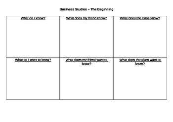 BS-Part1 - Pre-Course 'What do I know?' template