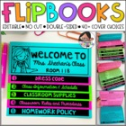 Meet the Teacher & Back to School Flip Book - Editable Flipbook Templates