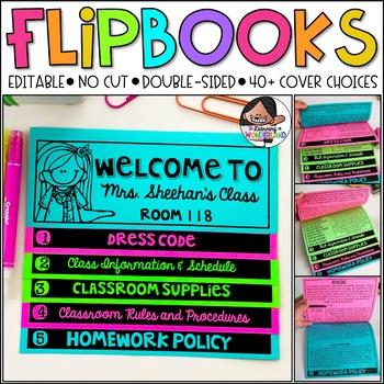 Meet the Teacher & Back to School Flip Book - Editable Fli